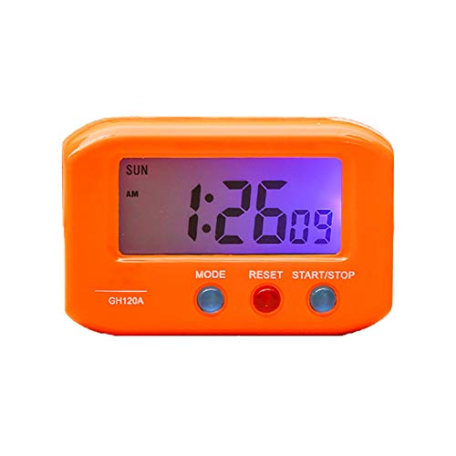 VLUNT Reloj Despertador Digital, Mini Pantalla LCD De Alta Precisión, Reloj para Niños, Luz Nocturna, Viajes, Mesitas De Noche, Despertadores con Tiempo De Repetición, Retroiluminación