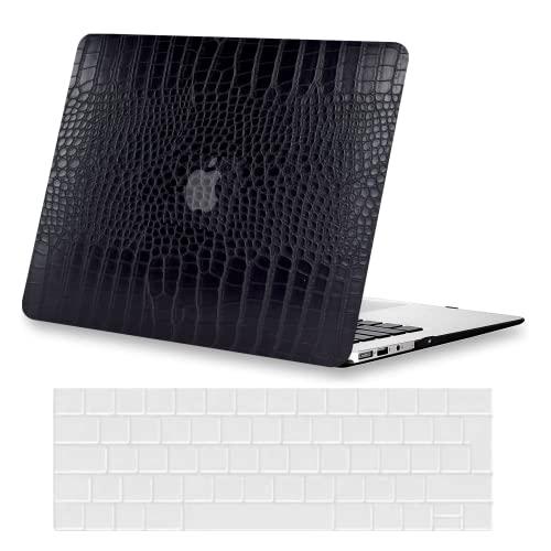 KEROM Funda para MacBook Pro 13 2020-2016 modelo M1 A2338 A2289 A2251 A2159 A1989 A1708 A1706, carcasa rígida + protector de teclado para Mac Pro 13, color negro