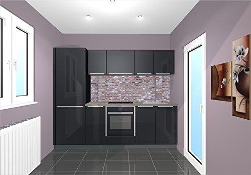 Küchenrückwand / Nischenverkleidung / Fliesenspiegel perfekt für die individuelle Küche - 180x55cm (BxH) Motiv: Hintergrund Backstein