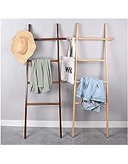 タオルハンガー ラダーハンガー 衣類ハンガー、バスタオルハンガー ランドリー 立て掛け 梯子型 ラダーハンガー 、150×60cm