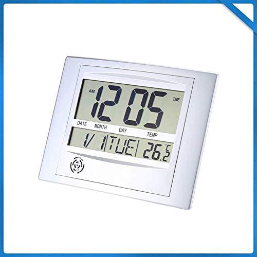 XBR Multifunctionele Digitale Alarm Klok Thermometer Digitale Kalender Wandklok Snooze Thermometer Hygrometer Digitale Huis & Kantoor en Home Decor Stijlvolle Muur