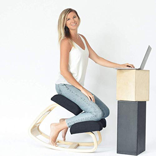 SLEEKFORM Austin Kneeling Chair | Home Office Ergonomic Computer Desk Chair Stool For Back Support