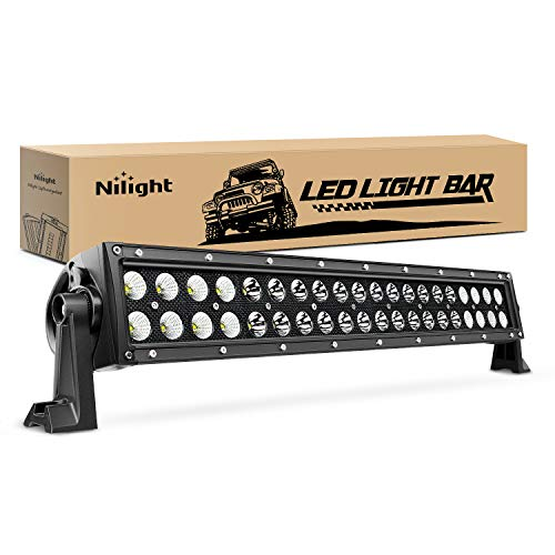 "Nilight - NI07B-120W 22"" 120w LED Light Bar Flood Spot Combo Driving Lights Fog Lamp off road led lights for SUV ATV Truck 4x4 Boat ,2 Years Warranty"