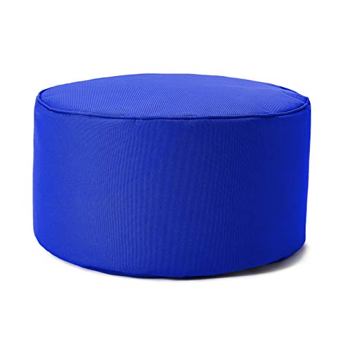Lumaland Taburete de Interior y Exterior, puf, Silla, Impermeable - Azul Real