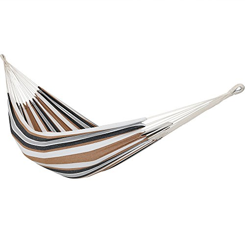 Sunnydaze Brazilian Double Hammock, 2 Person Portable Bed - for Indoor or Outdoor Patio, Yard, and Porch (Calming Desert)