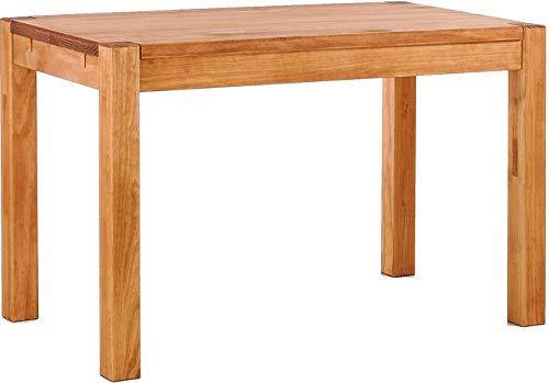 Brasilmöbel Esstisch Rio Kanto 120x80 cm Honig Pinie Massivholz Größe und Farbe wählbar Esszimmertisch Küchentisch Holztisch Echtholz vorgerichtet für Ansteckplatten Tisch ausziehbar