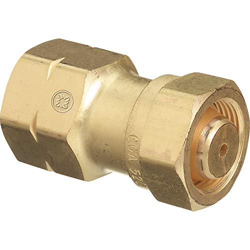 Western Enterprises 317 Brass Cylinder Adaptors, CGA-520'B' Tank Acetylene to CGA-510 POL Acetylene