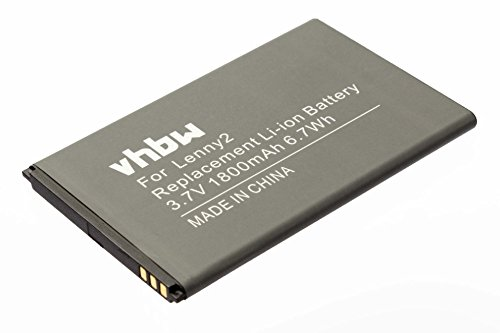 vhbw Li-Ion batería 1800mAh (3.7V) para teléfono móvil Smartphone teléfono Wiko Lenny 2 por 5030.