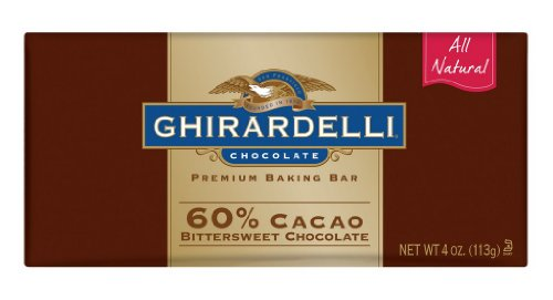 Ghirardelli Chocolate Baking Bar, 60% Cacao Bittersweet Chocolate