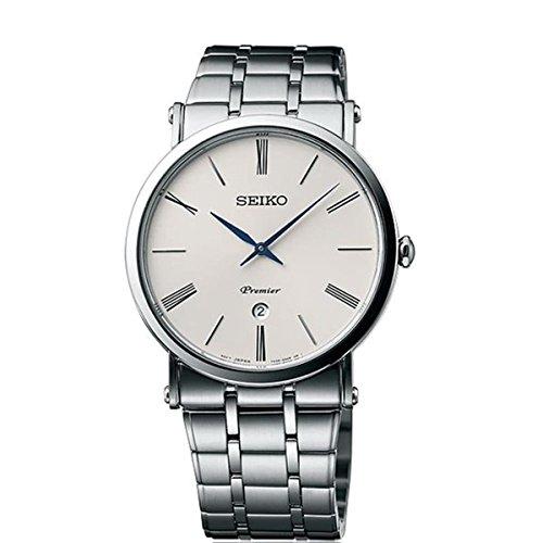 Seiko Herren Analog Quarz Uhr mit Edelstahl Armband SKP391P1