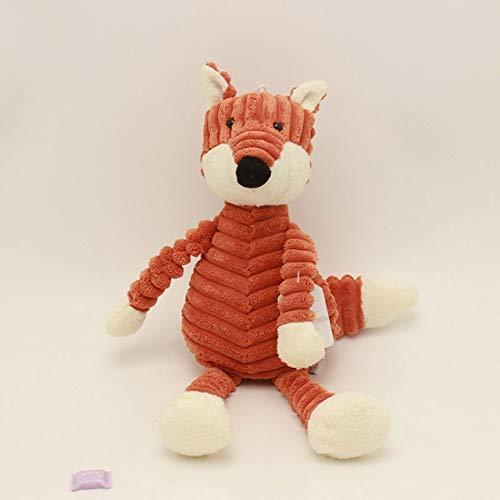 N / A Kawaii Stripe Bunny Panda Plüschtier Kuscheltiere Kaninchenpuppe Weiches Spielzeug Für Kinder Schlafen Kleinkind Beschwichtigen Spielzeug Kinder Geschenk 23CM