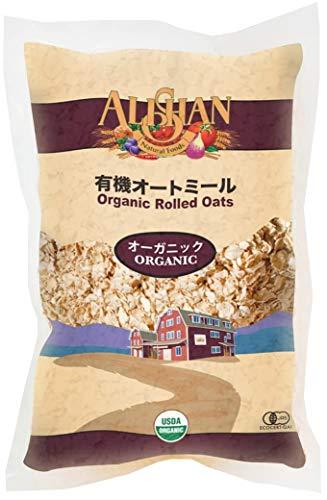 無添加 有機 オートミール 500g★ 送料無料 レターパック赤 ★ 有機栽培 された オーツ麦 100%。オーツは栄養バランスに優れた ホールフード です。食物繊維やミネラルが豊富で低GI。蒸気で加熱してローラーで押しつぶしてあるので、そのまま豆乳をかけ