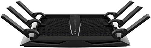 NETGEAR Nighthawk X6 Smart WiFi Router (R8000) - AC3200 tri-band draadloze snelheid (tot 3200 Mbps) | Dekking tot 325 m² en 50 Apparaten | 4 x 1G Ethernetpoort en 2 x USB-poort | Armor-beveiliging