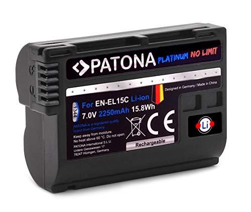 PATONA Platinum EN-EL15c Akku (2250mAh) kompatibel mit Nikon Z5 Z6 II Z7 II etc.