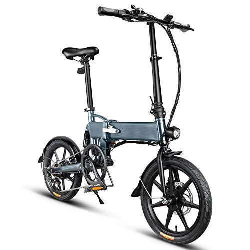 Susue Versand 3-7 Tage in Polen E-Bike Klapprad Faltrad Elektrofahrrad Fahrrad Aluminiumlegierung 16-Zoll-Rad Höhenverstellbar Tragbar 250W 25KM / H 3-Modus E-Bike mit LED-Frontleuchte