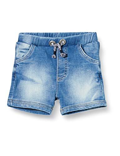 Bellybutton mother nature & me Baby-Jungen Knitted Jeans Shorts, Blau (Light Blue Denim|Blue 0014), (Herstellergröße: 80)