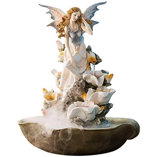 PsSpCo Indoor-Wasserfall-Brunnen Indoor-Wasser-Brunnen-Fee-Vernebler, groß für Haus Ornament Dekor, Ideal Geburtstag,A