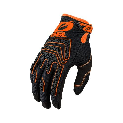 O'NEAL   Fahrrad- & Motocross-Handschuhe   MX MTB DH FR Downhill Freeride   Langlebige, Flexible Materialien, Silikonprint für Grip   Sniper Elite Glove   Erwachsene   Schwarz Orange   Größe L