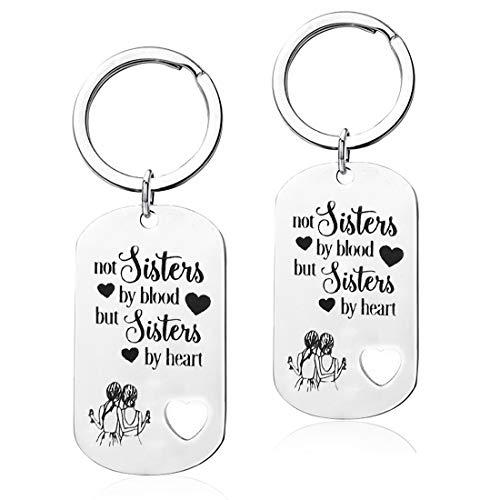 Premium-Schwester-Schlüsselanhänger - Nicht Schwestern von Blut, sondern Schwestern von Herzen Schwester Geburtstag Geschenk Freundin Freundschaft Geschenk Schlüsselanhänger