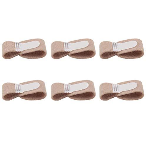 Supvox 6 St¡§?cke Zehenbandage Zehenschutz Zehenschiene Fingerschiene Hammerzehen Bandage Zeh Schiene f¡§?r Finger Hammer Toe Zehen Separator