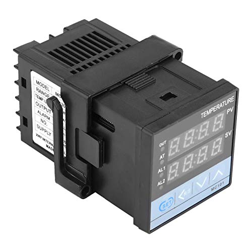 Controlador de temperatura Termostato MC101 portátil Controlador de temperatura Salida de relé/SSR Termostato de entrada universal para 0-50 ℃ sin gas corrosivo