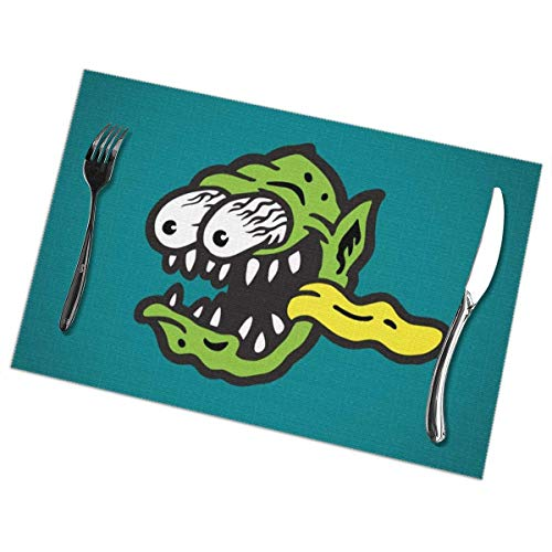 No license Ode an Ratte F-Ink Tischsets für Esstisch 6er-Set Küchenfleckenbeständiger Rutschfester waschbarer Tisch Hitzebeständige rutschfeste Tischsets Dekoration