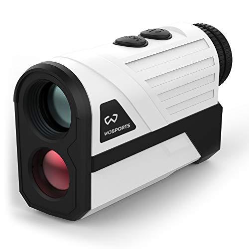 Wosports - Telémetro láser de golf, 731,5 m de distancia con pendiente, bloqueo de bandera con distancia de vibración/velocidad/medición de ángulo, cubierta de batería mejorada
