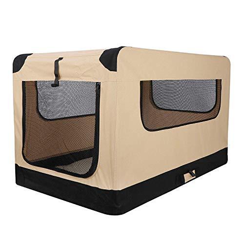 AmazonBasics Soft-Sided Pet Travel Carrier - Grey, Medium
