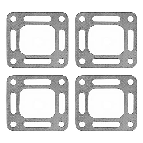 Exhaust Elbow Gasket Fit for Mercruiser Stern Drive - Exhaust Stack Riser Gasket Fit for Mercury Marine Sierra Boat Engine, Replace 27-863726 27-818832 27-863726 27-860232, 4 Pcs