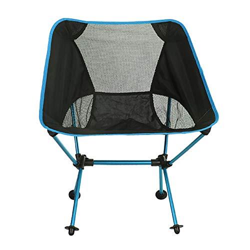 KISSBELLY - Silla de Camping portátil, Plegable, Ligera, Resistente, 150 kg, sillas de Camping con Bolsa de Transporte para Pesca al Aire Libre, Playa, Camping, Picnic, Concierto, Senderismo, Azul