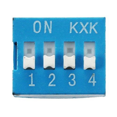 Ctzrzyt 10pzs 2 filas 8 pines 4P posiciones 2,54mm paso DIP Interruptor Azul