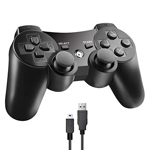 Etpark PS3 Wireless Controller, Bluetooth Gamepad for Playstation 3 with Dualshock3 Sixaxis,USB Charger Cable Cord