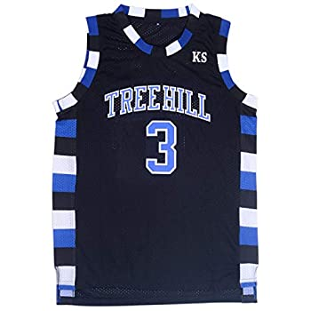 TUEIKGU Mens Lucas Scott 3 Ravens Basketball Jersey Stitched Sports Movie Jersey Black  Medium