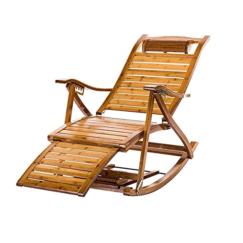 Reclinables Feifei Bambú Plegable al Aire Libre Hamaca Siesta Silla de jardín...