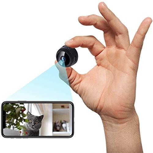 Mini Camara de Vigilancia,1080P HD Portátil WiFi Cámara,Grabadora de Video,Camaras de Seguridad Pequeña con Visualización Remota para Interior/Exterior