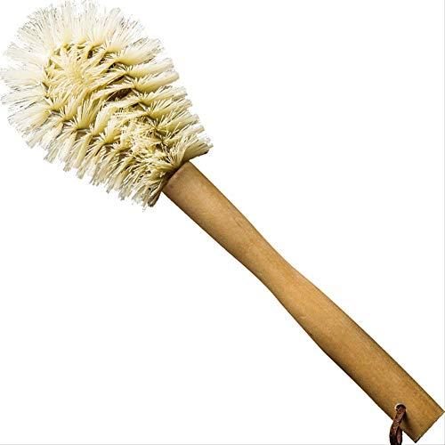 Keukenhandvat, houten handvat, kop, borstel, theekopje, reiniging, borstel, theepot, borstel, keuken, reiniging van dagelijkse benodigdheden.