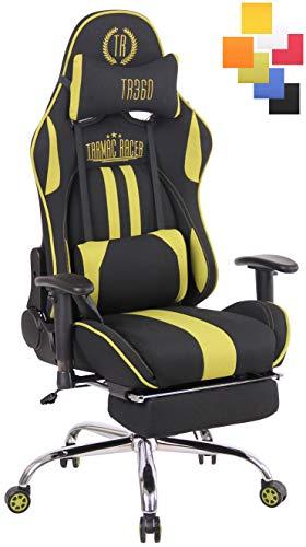 CLP Limit XFM Mit Bureaustoel, massagefunctie, in hoogte verstelbaar, met uittrekbare voetsteun, zitgedeelte verwarmbaar zwart/groen