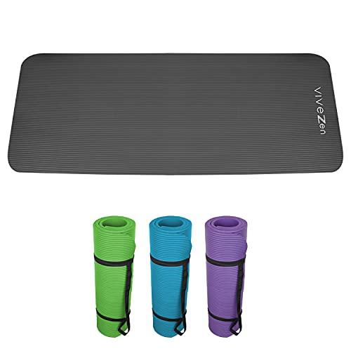 Vivezen ® Tapis de yoga, de gym, d'exercices 180 x 60 X 1,2...