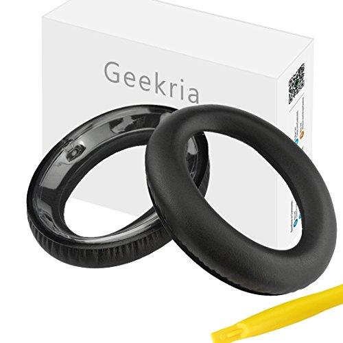 Geekria Oorpad voor Sennheiser PXC450, HME95, HMEC250 Koptelefoon Vervangende Oor Pad/Oor Kussen/Oor Bekers/Oor Cover/Oordopjes Reparatie Onderdelen