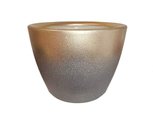 Der Perlenspieler® - Tisch-Kerzenschmelzer Farbverlauf Gold-Grau-In- und Outdoor-3 mm Glasfaserdocht-10 cm x 10 cm