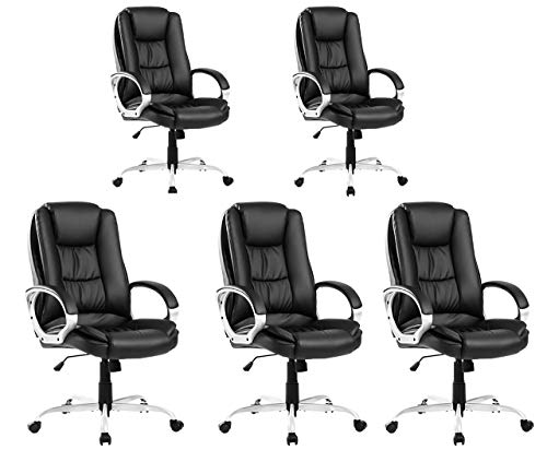 AUTOKOLA HOME Executive office chairs Large Computer Home Luxury Leather Swivel ergonomic office chair Adjustable High Back gaming chair