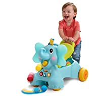 3-in-1 Sit, Walk and Ride Elephant is jumbo fun that grows with your baby 3 WAYS TO PLAY: Sit and explore. For sitting babies, lots of hands-on activities. Light-up buttons, songs and silly sounds Stand and walk. When your child's ready to get up and...