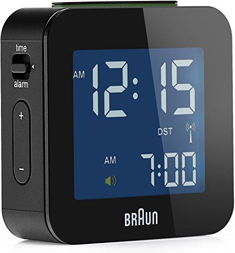 Braun BNC 008 - Relojes de Mesa (5,7 cm, 1,99 cm, 5,7 cm, LCD, Azul, AAA, 1.5V, LR3) Negro