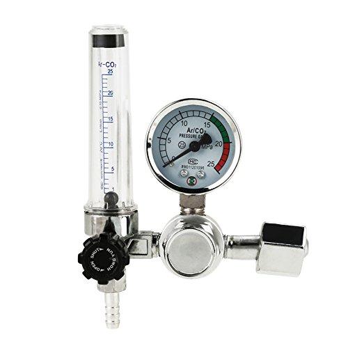 Profi Druckminderer, 0-25MPa Druckregler Schweißen Argon Co2 MAG/WIG mit Flowmeter Wasserabscheider Druckluft Kompressor Wasser und Ölabscheider Filter Regler