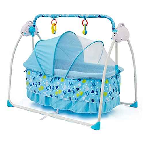 Baby Bouncer, sillones de bebé eléctricos, 3 tipos de tiempo, 5 velocidades ajustables, es el mejor regalo para bebés 0-24 meses de edad WDH666