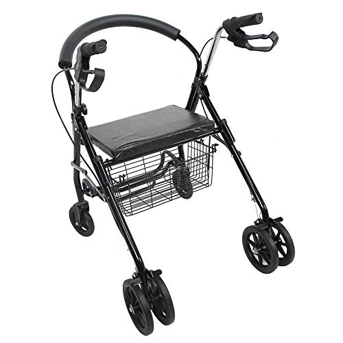 Haofy Andador de Movilidad con Andador Ayuda para Caminar con 4 Ruedas con Asiento Acolchado Equipo de Movilidad para Ancianos discapacitados