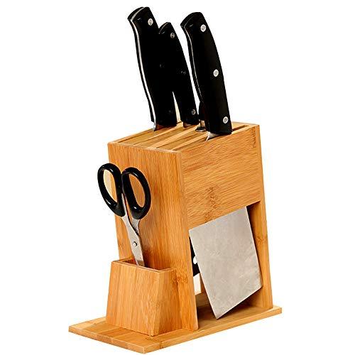 EDOSTORY Support Bambou Général/Porte-Outil, Le Porte-Outil Est Inséré Cuisine Multifonctionnel, Une Fente De Porte-Outil De Cuisine pour Ustensiles De Cuisine,Marron