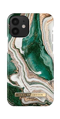 IDEAL OF SWEDEN Handyhülle für iPhone 12 Mini (Golden Jade Marble)