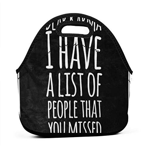 Tote Bag Lunch Bags For Women Men,Lightweight, Insulated And Reusable Cooler Bag For Outdoor School Office Meme Funny Inspirational Quotation Karma Good Life Positive Typo Attitude