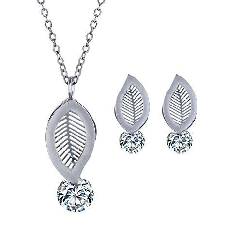 GYJUN Bijoux Colliers décoratifs Boucles d'oreille / Mode Mariage Décontracté Zircon Acier au , silver